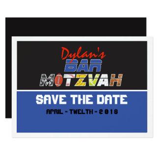MEGA SPORTS Bar Bat Mitzvah Save the Date Card