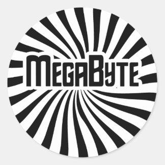 Megabyte Geek Round Sticker