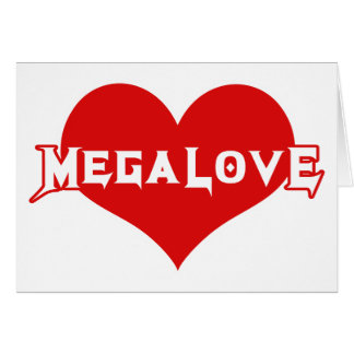 Megalove Metal Valentines Day Card