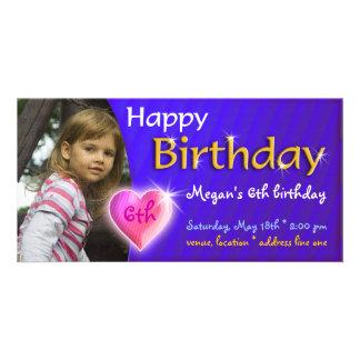 Megan Birthday Photo Invitation Personalized Photo Card