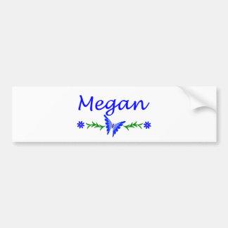 Megan Blue Butterfly Bumper Stickers
