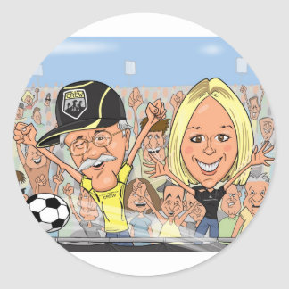 Megan-Caricature Round Stickers