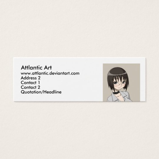 megane, Attlantic Art, www.attlantic.deviantart... Mini Business Card