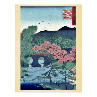 Megane Bridge at otani by Utagawa,Hiroshige Postcard