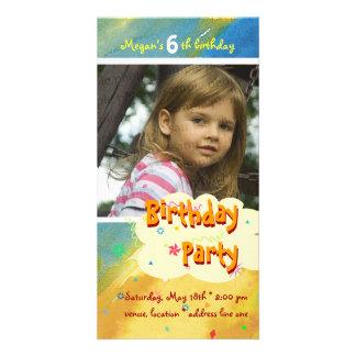 Megan's Birthday Party Photo Invitation Photo Card