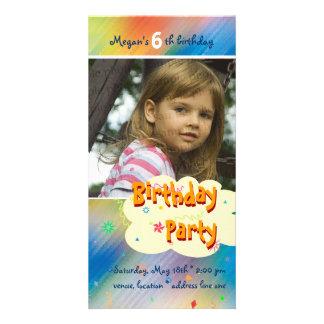 Megan's Birthday Party Photo Invitation Customized Photo Card