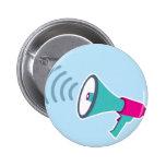 Megaphone 6 Cm Round Badge