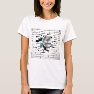 Megaphone Breaking Brick Wall T-Shirt