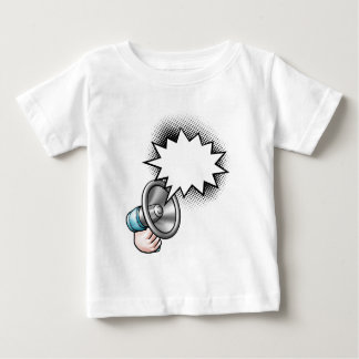 Megaphone Comic Book Speech Bubble Baby T-Shirt