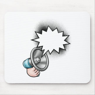 Megaphone Comic Book Speech Bubble Mouse Mat