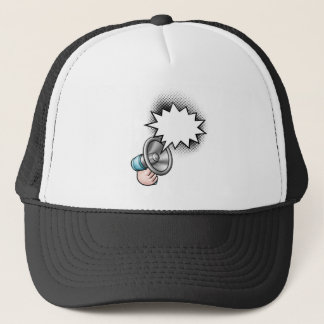 Megaphone Comic Book Speech Bubble Trucker Hat