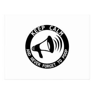 Megaphone: Keep Calm And Never Forget Postcard