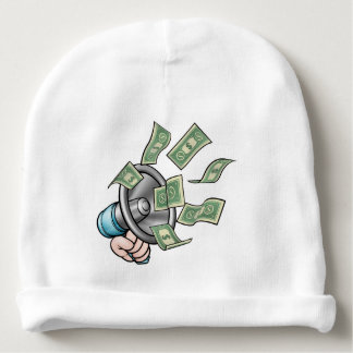 Megaphone Money Concept Baby Beanie