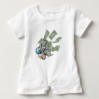 Megaphone Money Concept Baby Bodysuit