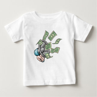 Megaphone Money Concept Baby T-Shirt