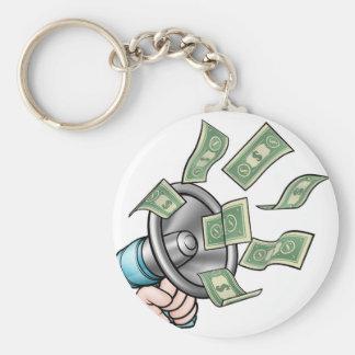 Megaphone Money Concept Key Ring