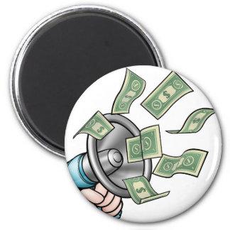 Megaphone Money Concept Magnet