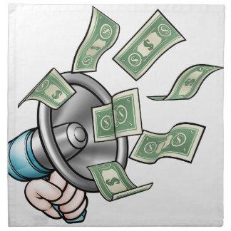 Megaphone Money Concept Napkin