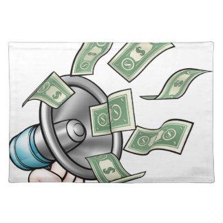 Megaphone Money Concept Placemat
