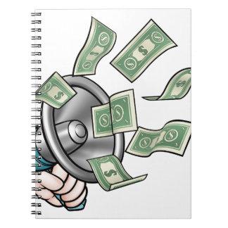 Megaphone Money Concept Spiral Notebook