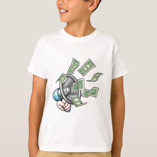Megaphone Money Concept T-Shirt