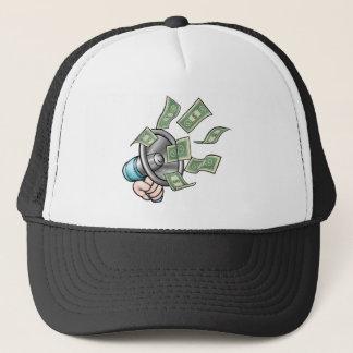 Megaphone Money Concept Trucker Hat