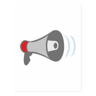 Megaphone of megaphones bulletin horn postcard
