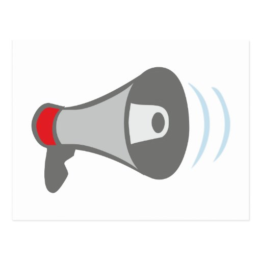 Megaphone of megaphones bulletin horn post cards