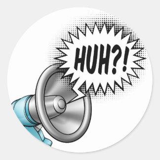 Megaphone Speech Bubble Concept Classic Round Sticker