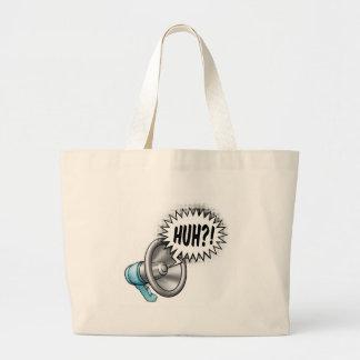 Megaphone Speech Bubble Concept Large Tote Bag