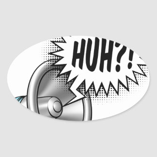 Megaphone Speech Bubble Concept Oval Sticker