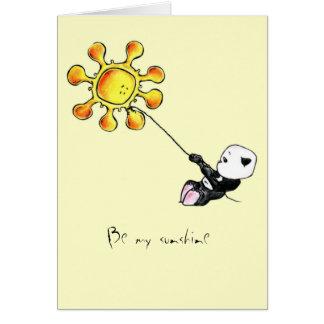 Megg: A cute panda - sun, Be my sunshine Card