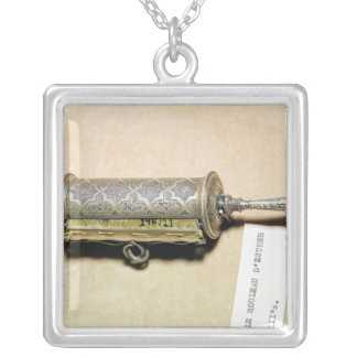 Megillah case, from Alsace Silver Plated Necklace