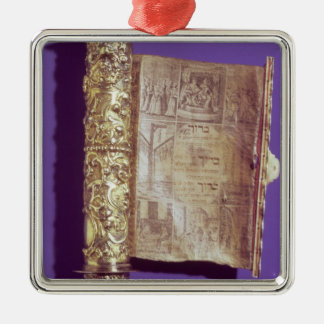Megillah  in a silver case, Vienna, c.1715 Christmas Ornament