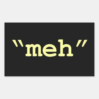 meh - black sticker