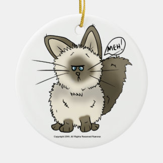 Meh Cat Christmas Ornament