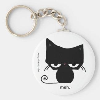 Meh Cat Keychain