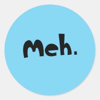 meh classic round sticker