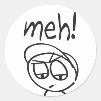 Meh! Classic Round Sticker
