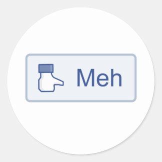 Meh - Facebook Classic Round Sticker
