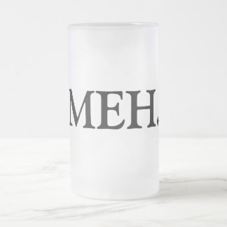 MEH. FROSTED GLASS BEER MUG