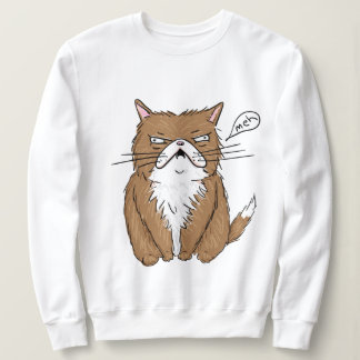 """Meh"" Funny Graphic Cat Sweater"