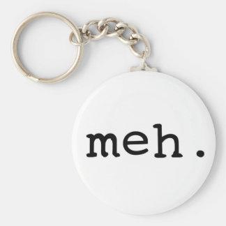 Meh. Basic Round Button Key Ring
