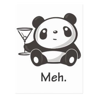 Meh Panda Postcard