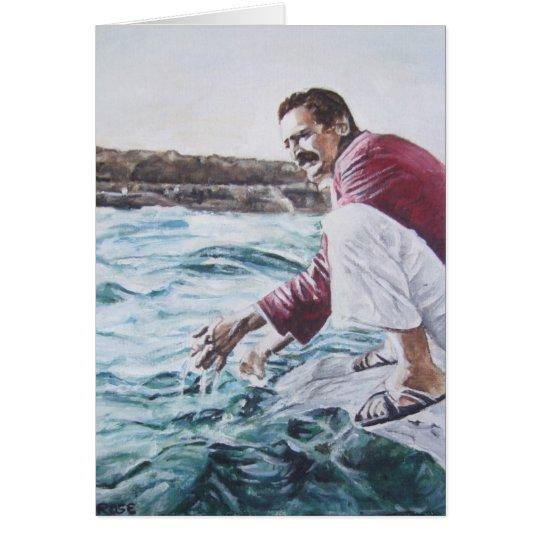 Meher Baba Dips into His Ocean Card