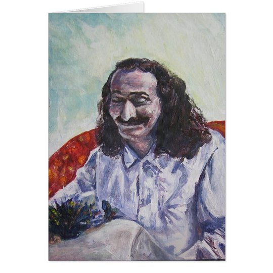 Meher Baba smile, CARD (blank message)