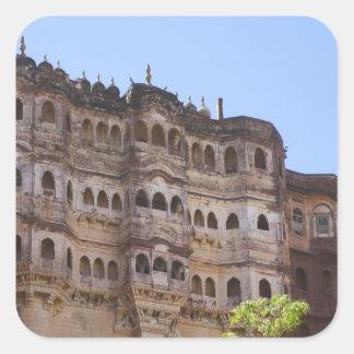 Meherangarh the Majestic Fort Jodhpur Square Sticker