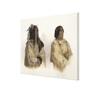 Mehkskeme-Sukahs, Blackfoot Chief and Tatsicki-Sto Gallery Wrapped Canvas