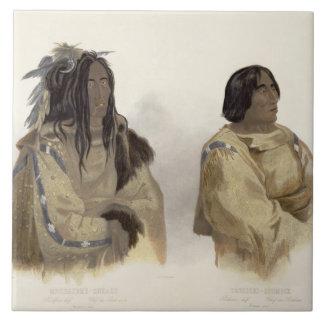 Mehkskeme-Sukahs, Blackfoot Chief and Tatsicki-Sto Large Square Tile