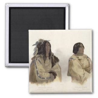 Mehkskeme-Sukahs, Blackfoot Chief and Tatsicki-Sto Square Magnet